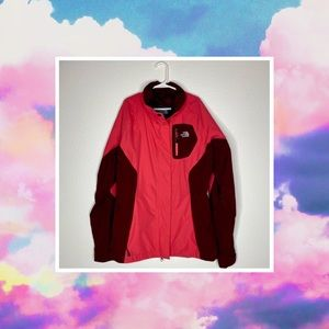 THE NORTH FACE WOMENS PINK MAGENTA WINDBREAKER